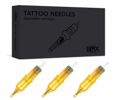 20pcs round BMX Standard Disposable Tattoo Needle Cartridges with Membrane Safety Cartridges for Tattoo Artists